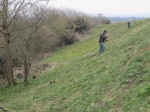 tidying Wain's Hill ramparts