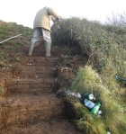 uncovering steps on Church Hill