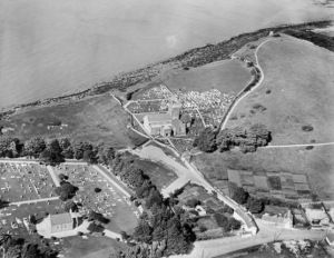 1928 aerial view showing Church Hil