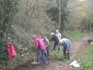 path clearing on Wain's Hill