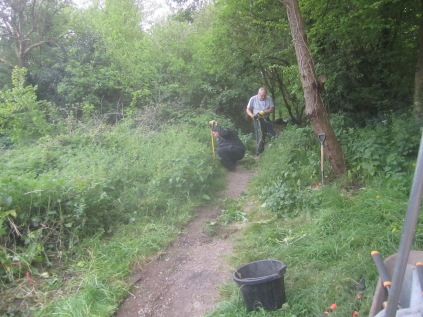 forking out nettles