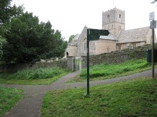 grass mown near St Andrew's green gate