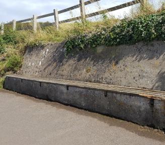 seat on the coast path