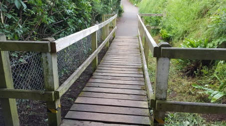 the badger bridge on the coast path