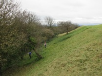 mowing the rampart slope