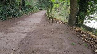 the path above Marine Lake swept