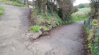 the paths near the cemetery tidied and swept