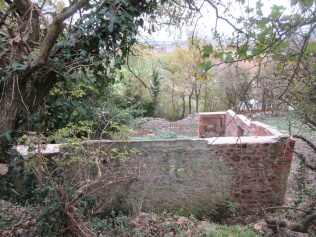 October 2017 - the building walls made safe by lime mortar capping (by contractor)