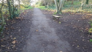Church Hill path cleared of autumn leaves and mud