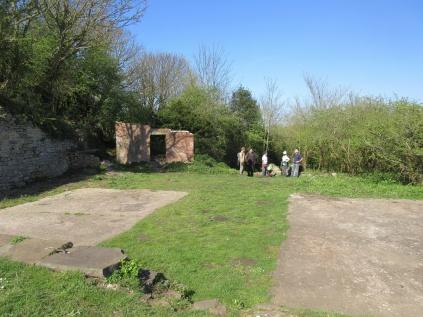 the battery site in April