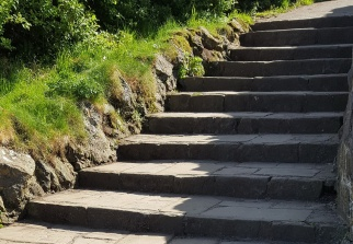 the steps to the lookout