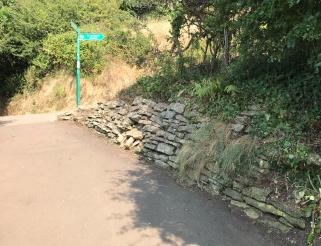 the coast path near Church Hill