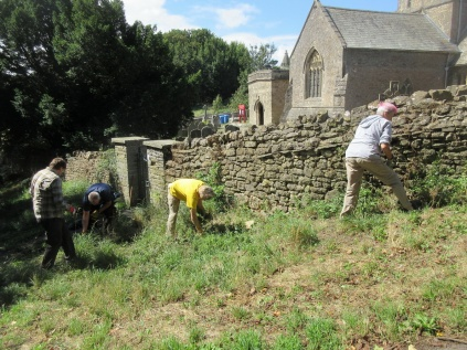 weeding the greeen gate bank