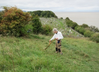 late summer scything on Church Hill