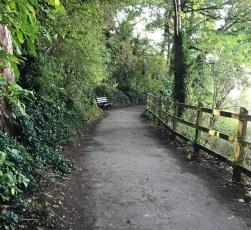Poets' Walk path above Marine Lake