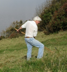 Roy Betts on Church Hill, Poets' Walk