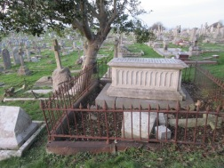 graves cleared of bramble and other vegetation