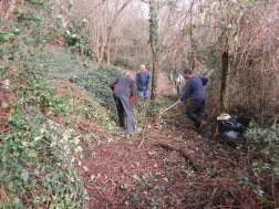clearing bramble to restore access