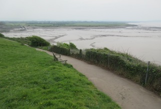 the coast path on Wain's Hill after tidying
