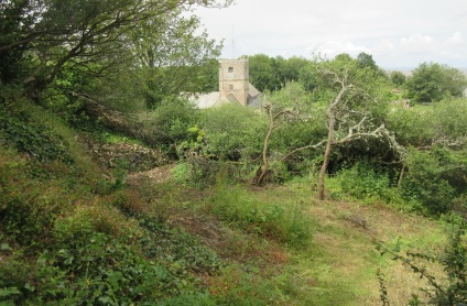 Church Hill quarry and St Andrew's Church