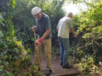 cutting back vegetation and tidying the Church Hill zigzag steps