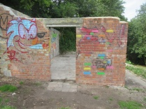 Wain's Hill Battery lintel made safe 24 June 2019