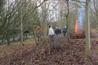 dragging brash to the fire