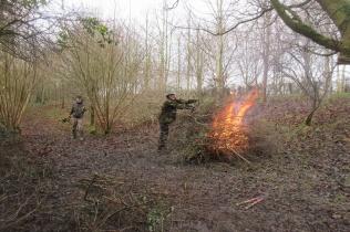 New Year's bonfire