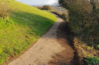 coastal path at the headland overlooking Clevedon Pill