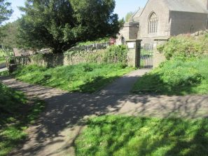 St Andrew's Church - grass edges mown