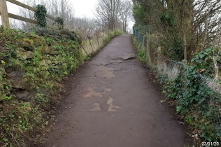 the coast path approaching St Andrew's glebe field