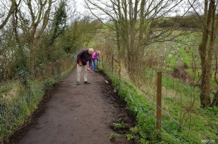 tidying the coast path beside the Glebe field 2