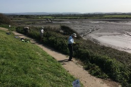 widening the coast path by clearing back vegetation
