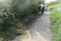 widening the path at the headland